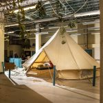 Madlove Take Over bell tent inside space