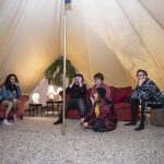 Madlove Take Over opening night, inside the bell tent